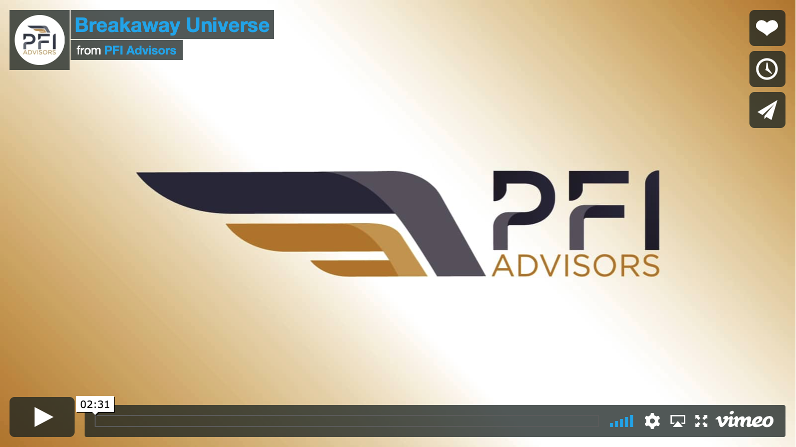Video: PFI Advisors' Take on the  Breakaway Advisor Movement…