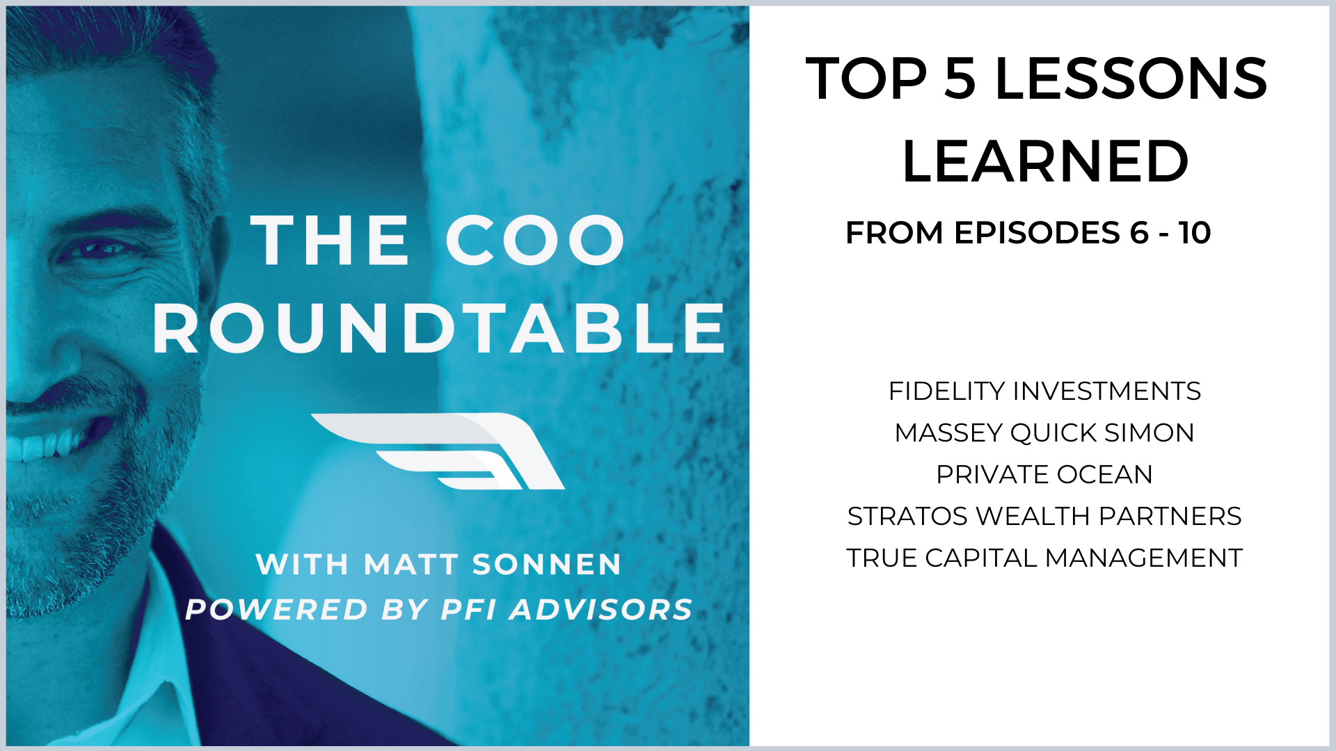Top 5 Lessons Learned from  Episodes 6-10 of The COO Roundtable