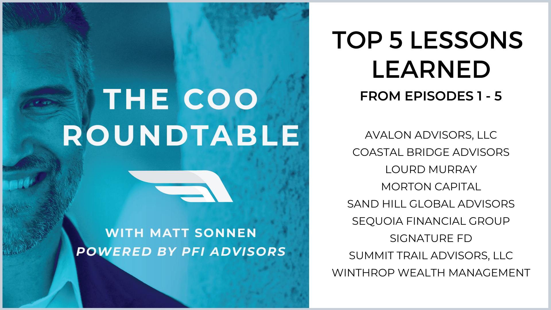 Top 5 Lessons Learned from Episodes 1-5 of The COO Roundtable