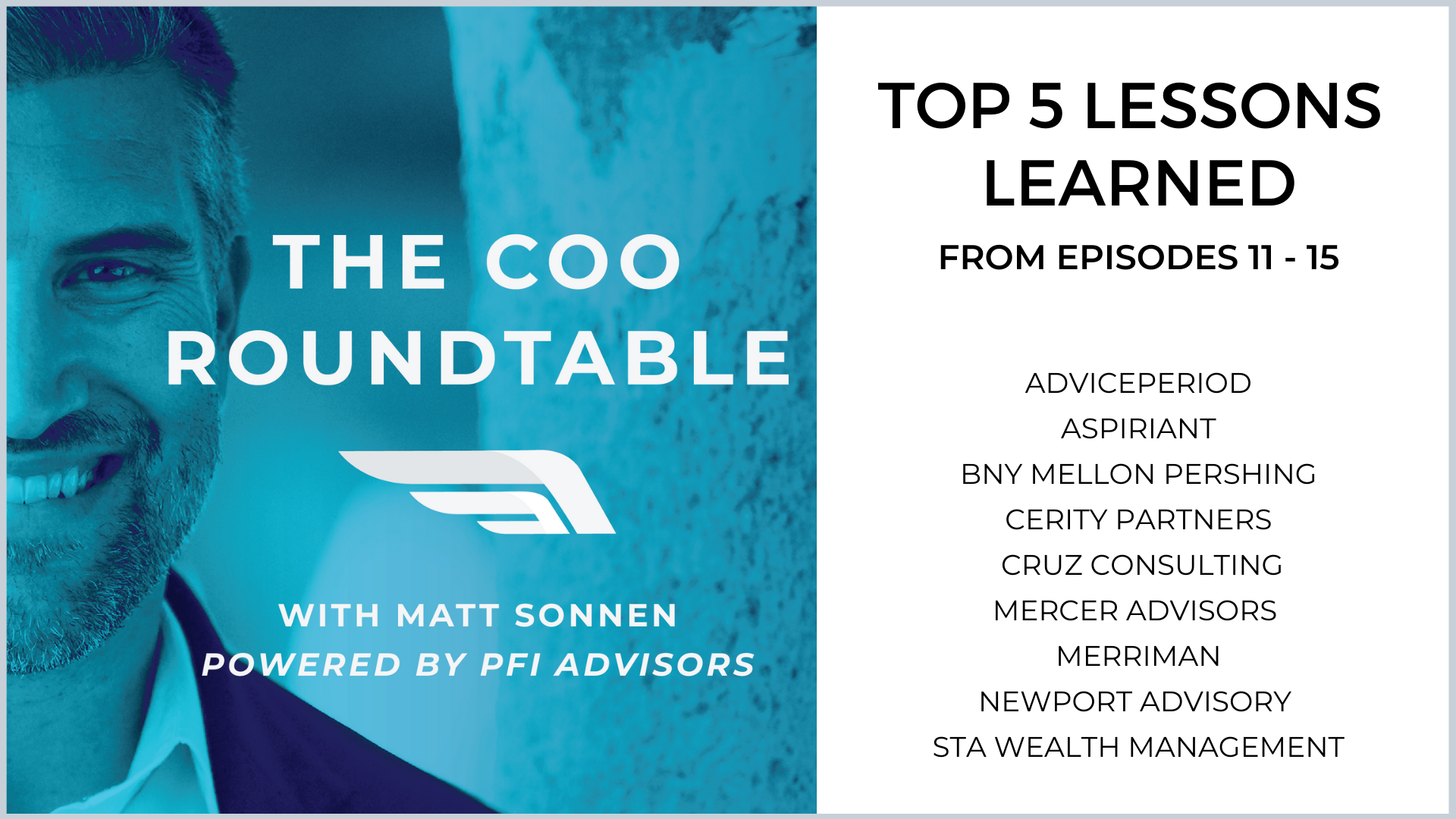 Top 5 Lessons Learned from Episodes  11-15 of The COO Roundtable