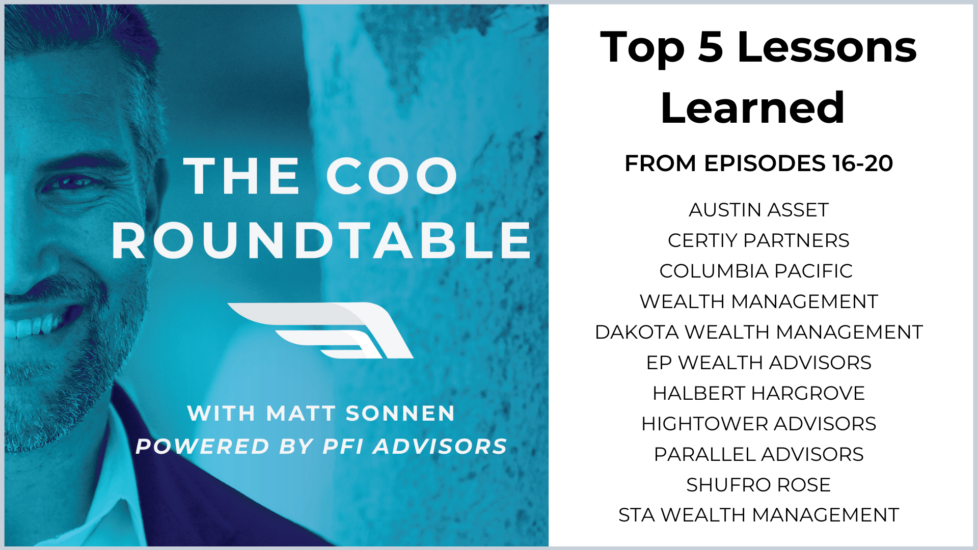 Top 5 Lessons Learned from Episodes  16-20 of The COO Roundtable