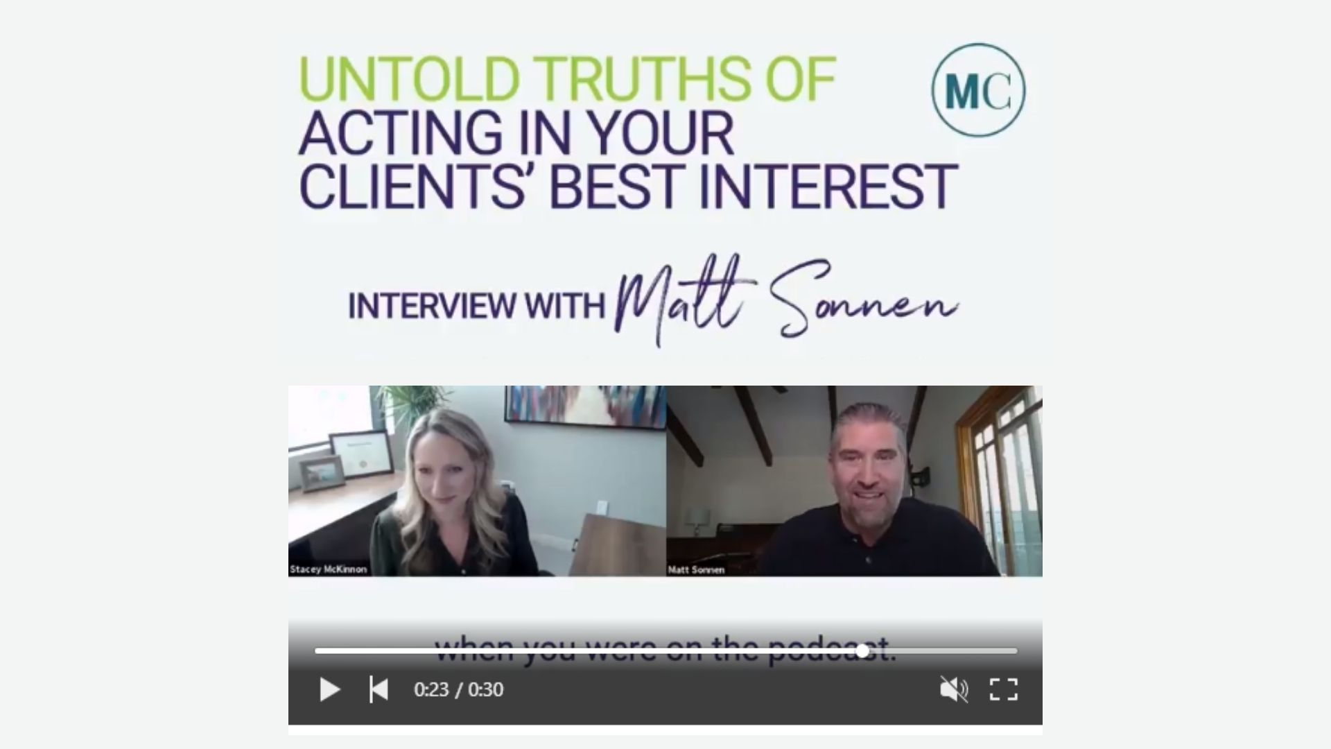 Untold Truths Of Acting  In Your Clients' Best Interest