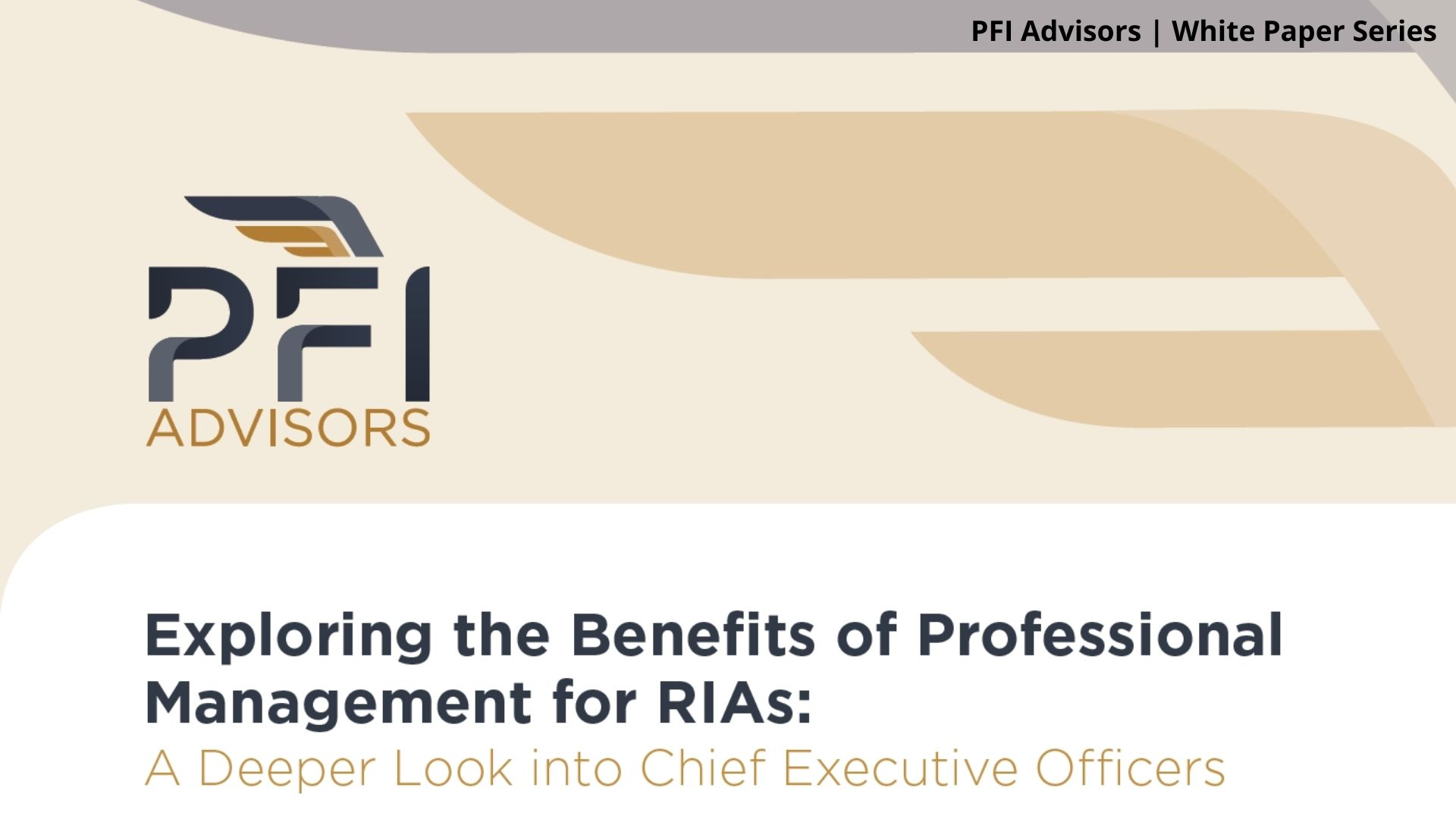White Paper: The Role of  CEOs at Successful RIAs