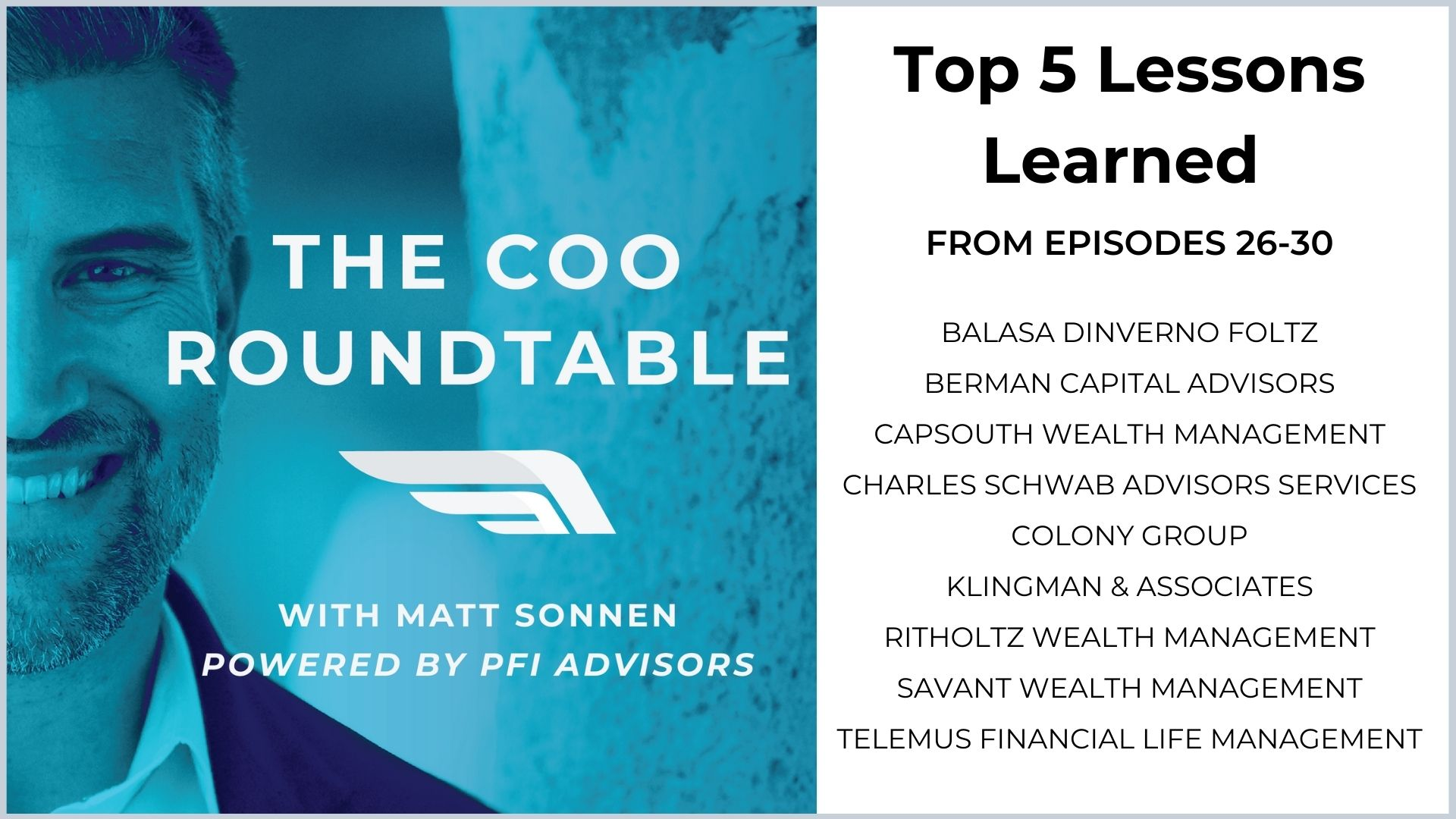 Top 5 Lessons Learned from Episodes  26-30 of The COO Roundtable